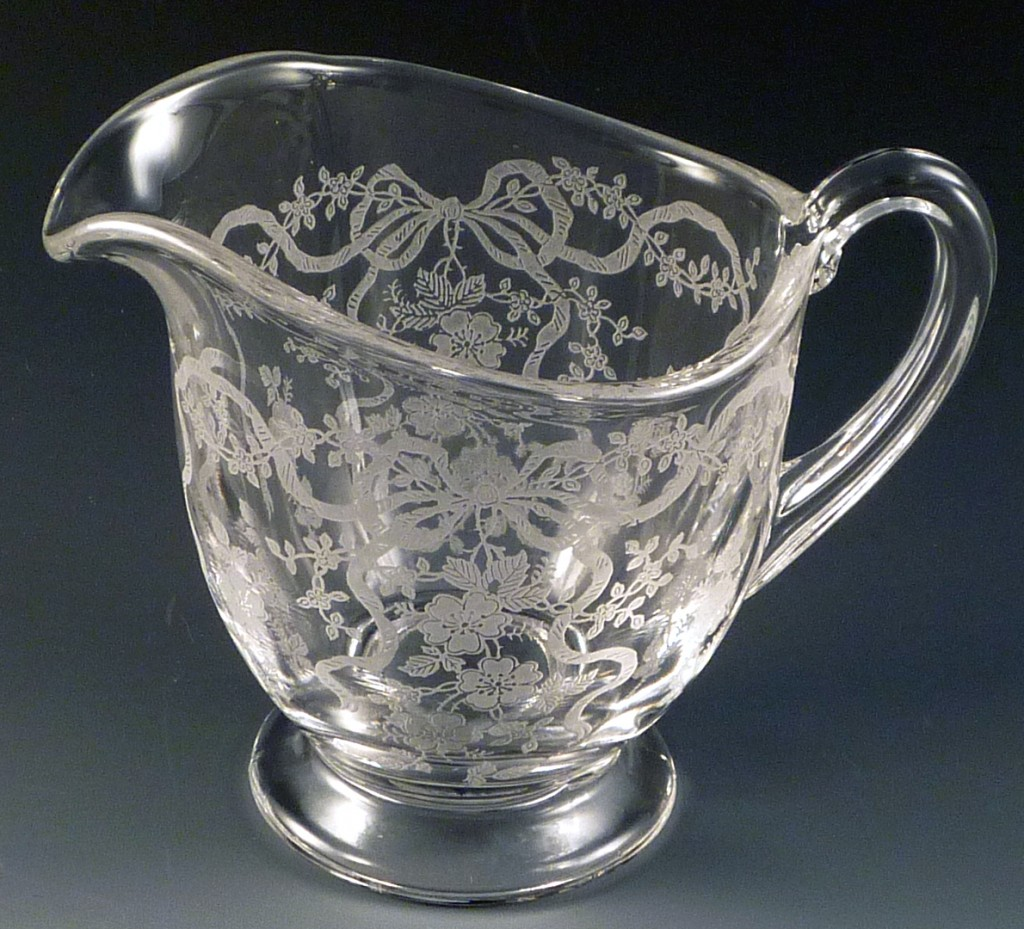 Fostoria Romance Etched Crystal Creamer