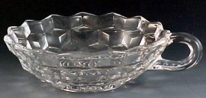 Fostoria Glass American Crystal Flared Nappy