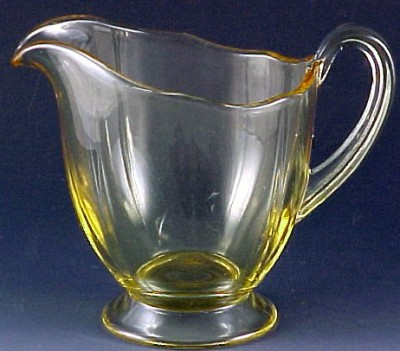Fostoria Glass Fairfax Topaz Yellow Creamer