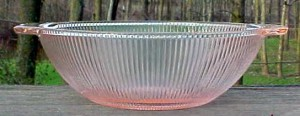 Homey and Pink – Homespun Depression Glass – Pink Saturday