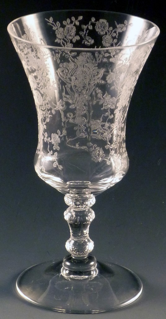 Cambridge Glass Rose Point 3500 Juice Goblet