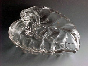 Gorgeous Crystal Leaf Candy Dish – Duncan Miller Sylvan Glass