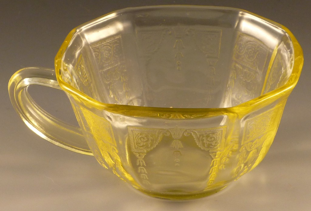 Princess Topaz Yellow Depression Glass Cup