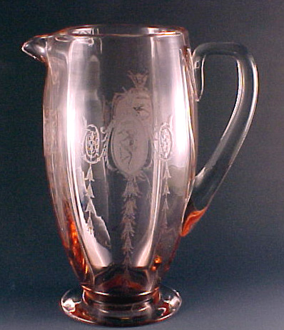 Tiffin Classic Pink Elegant Depression Glass Pitcher