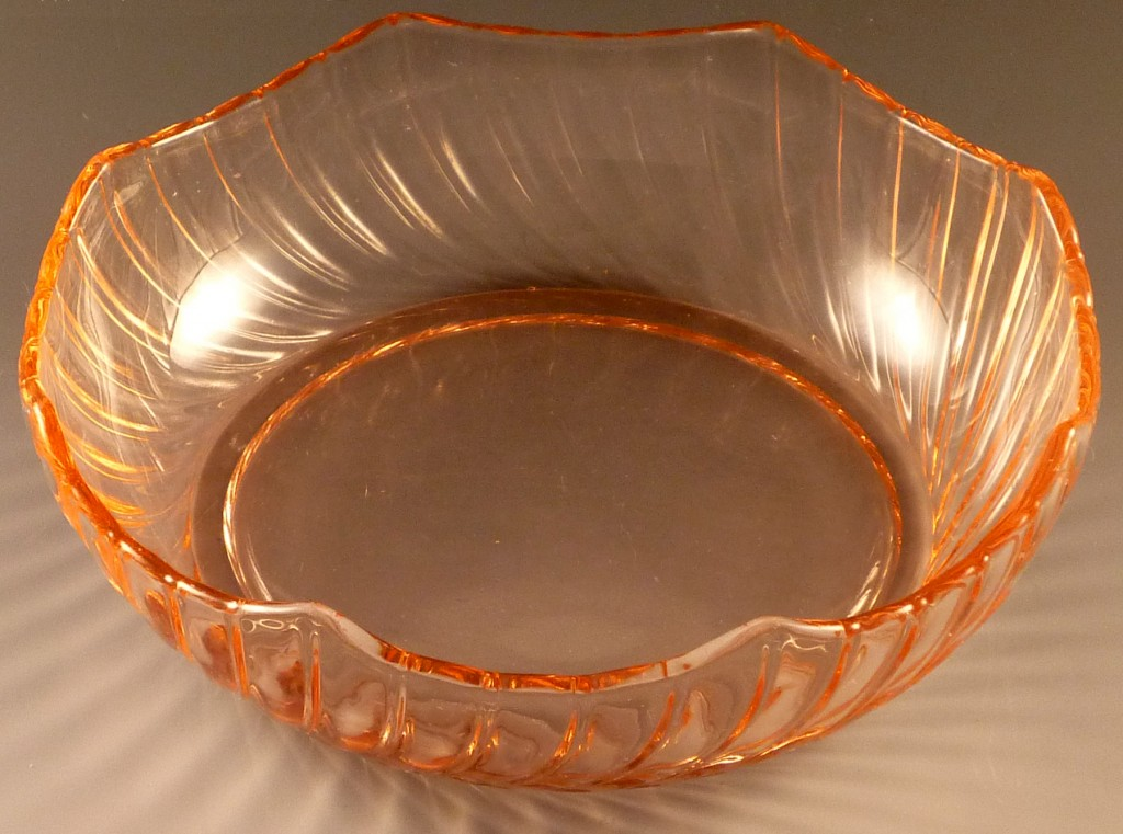 Heisey Octagon Spiral Pink Elegant Depression Glass Bowl