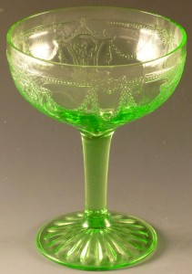 Cameo Green Depression Glass Champagne Sherbet