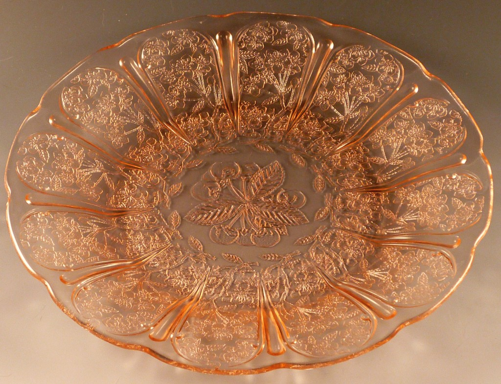 Cherry Blossom Pink 9 inch Dinner Plate - Real Depression Glass