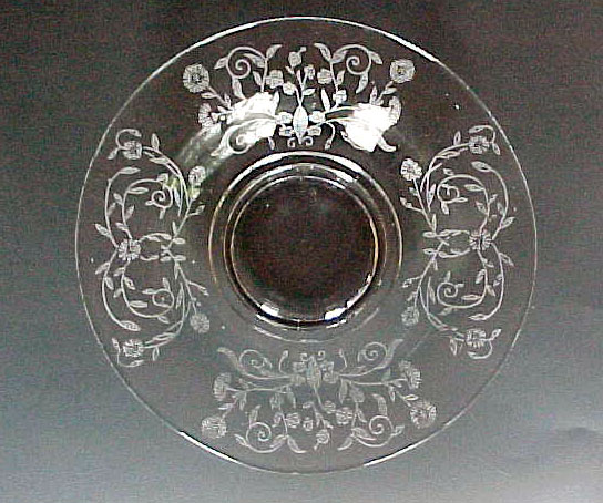 Paden City Aster Etched Plate