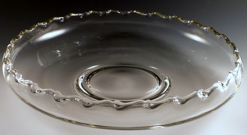 Fostoria Century Large Lily Bowl Crystal with Curlicues