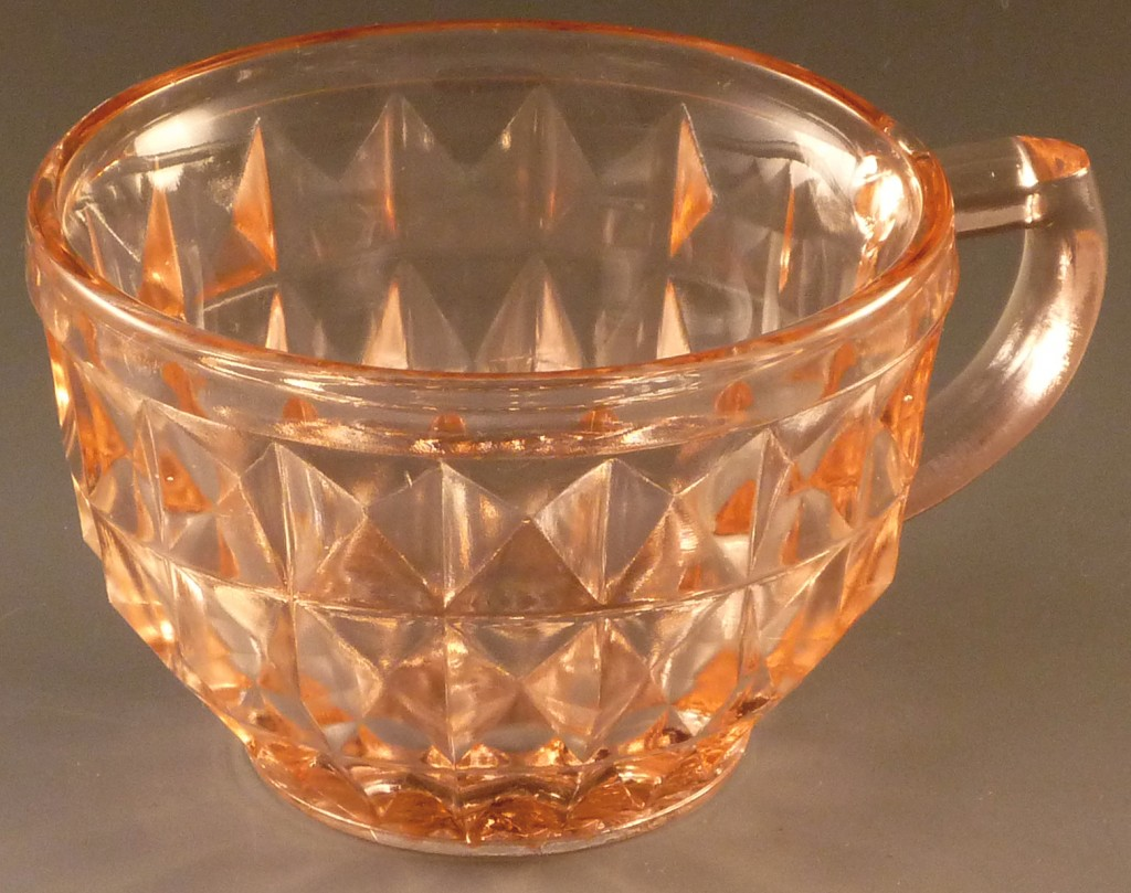Windsor Pink Depression Glass Cup