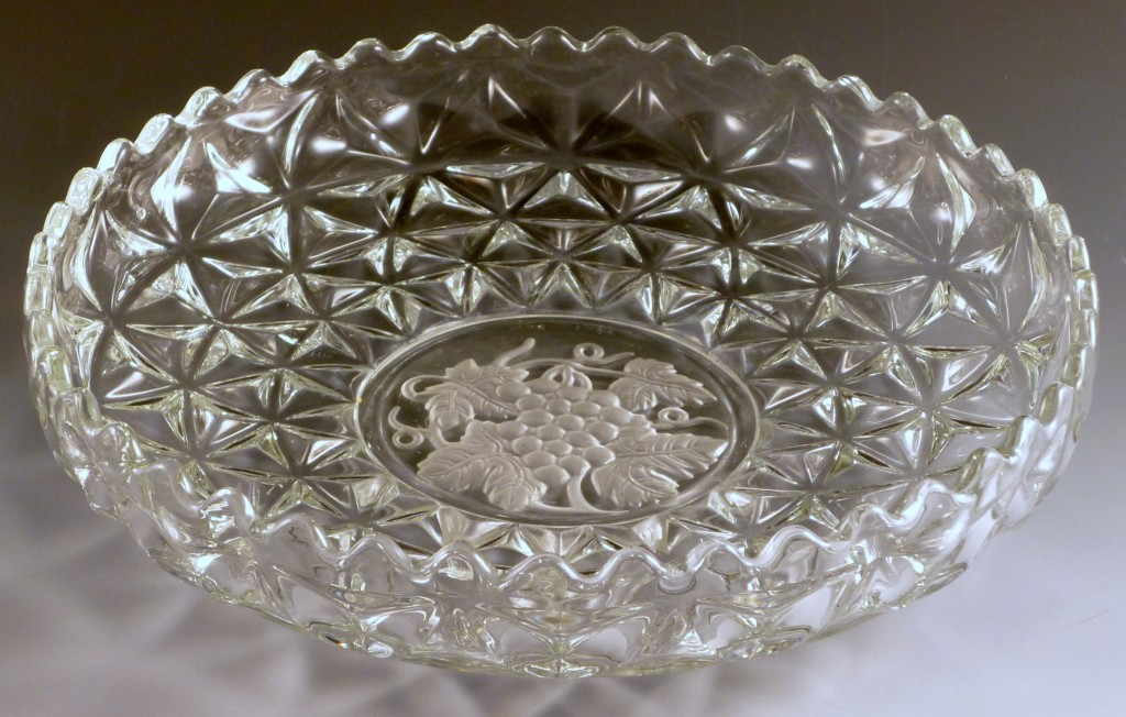 Mount Vernon Crystal Intaglio Base 9 in Lily Bowl