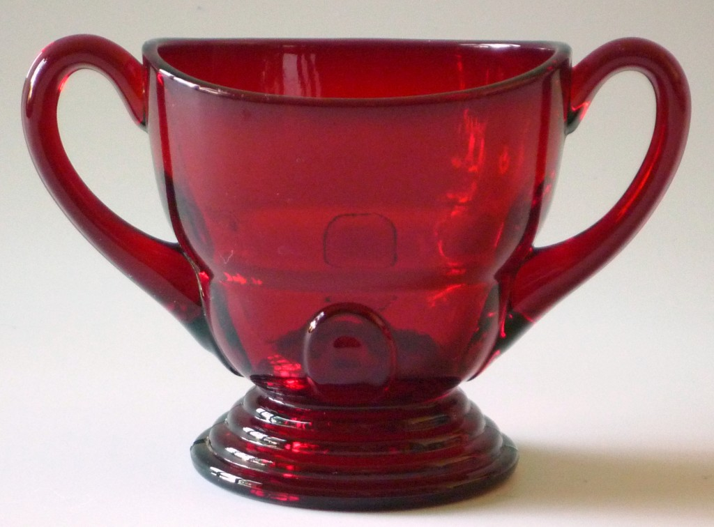 Moondrops Ruby Sugar Bowl New Martinsville