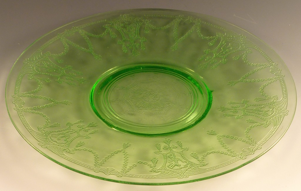 Cameo Green Depression Glass 10 inch Sandwich Plate