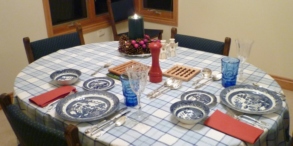 Christmas Dinner 2012 - Blue Willow, Argus and Rose Point