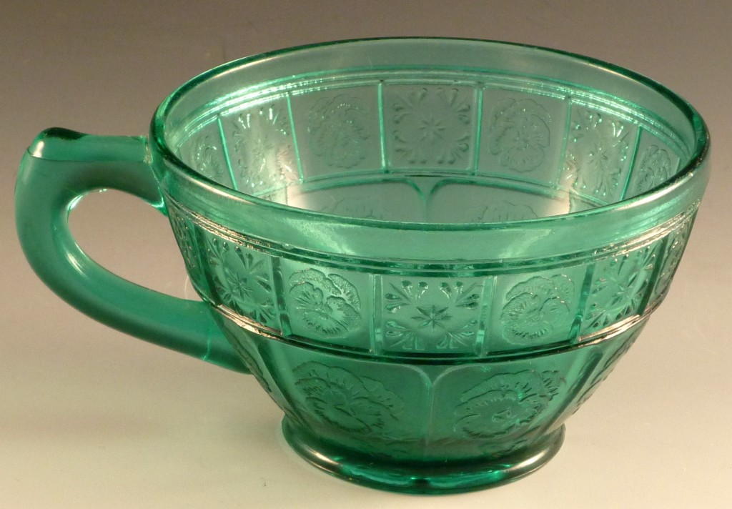 Doric and Pansy Utramarine Depression Glass Cup