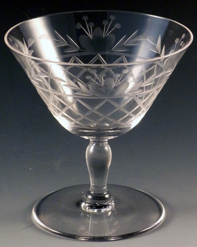 Fostoria Glass Trellis Cut Crystal Sherbet