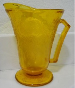 Florentine Poppy Amber Depression Glass or a Reproduction?