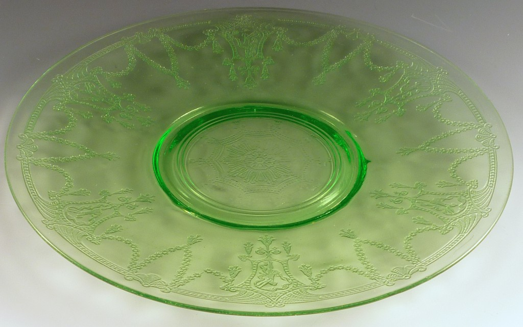 Cameo Green Depression Glass 10 inch Dinner Plate or Sandwich Plate