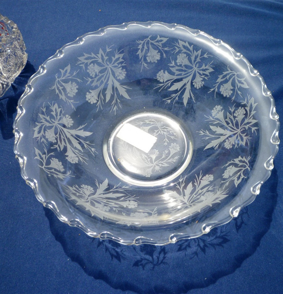 Fostoria Heather Etched Century Crystal Bowl