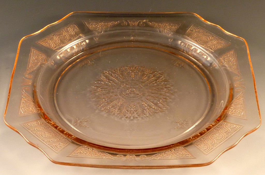 Princess Pink Depression Glass 8 7/8 Inch Dinner Plate