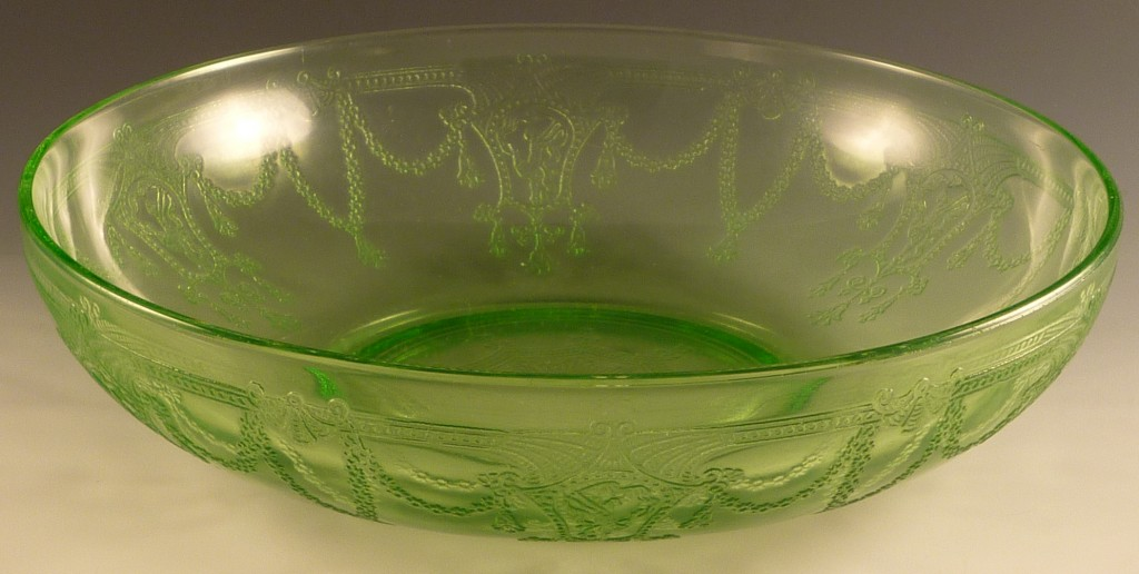Cameo Green Depression Glass Round Serving Bowl
