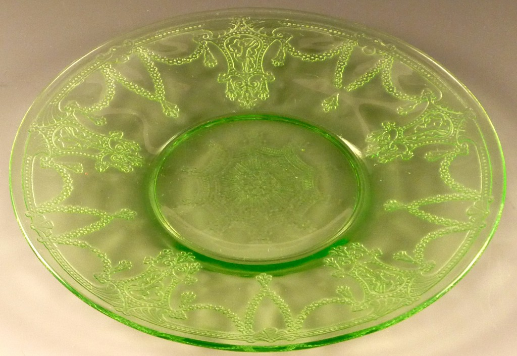 Cameo Green Depression Glass Plate by Hocking Glass