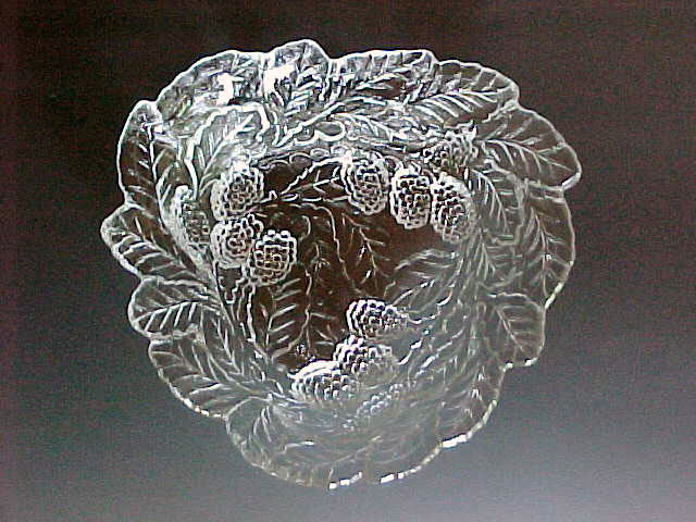 Loganberry Clear Depression Glass Bowl Indiana Glass
