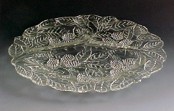 Loganberry Clear Depression Glass Grill Plate from Indiana
