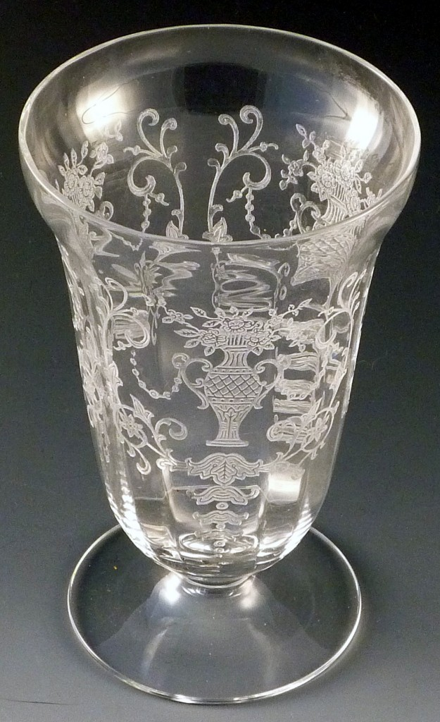 Fostoria Florentine Etched #6005 9 Oz Footed Water Crystal Elegant Glass