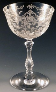 Fostoria Navarre Etched Crystal Tall Sherbet