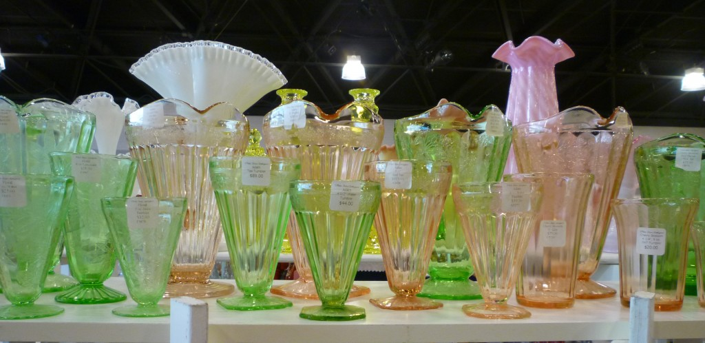 Adam Depression Glass Footed Tumblers