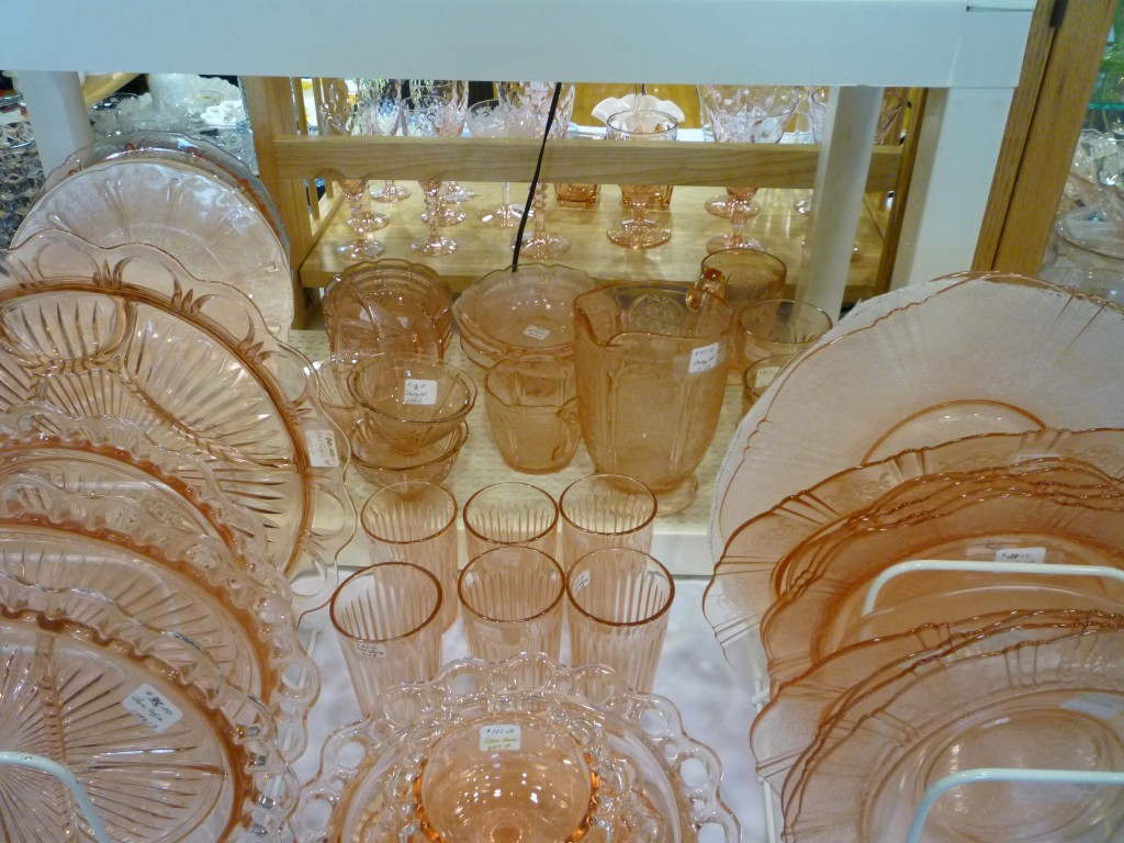 American Sweetheart, Old Colony, Cherry Blossom Pink Depression Glass