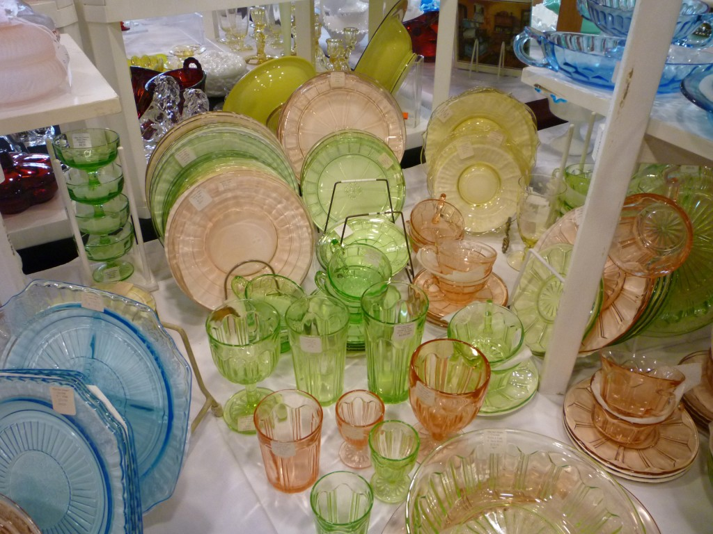 Block Optic, Colonial and Mayfair Depression Glass
