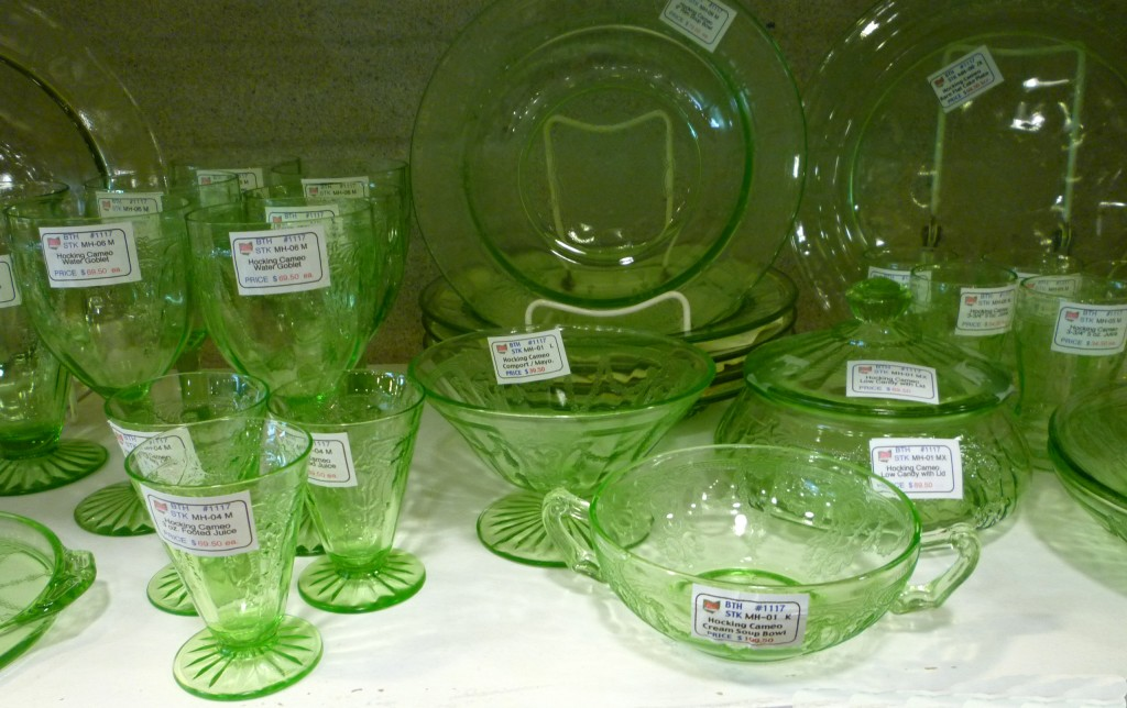 Cameo Green Depression Glass Cream Soup