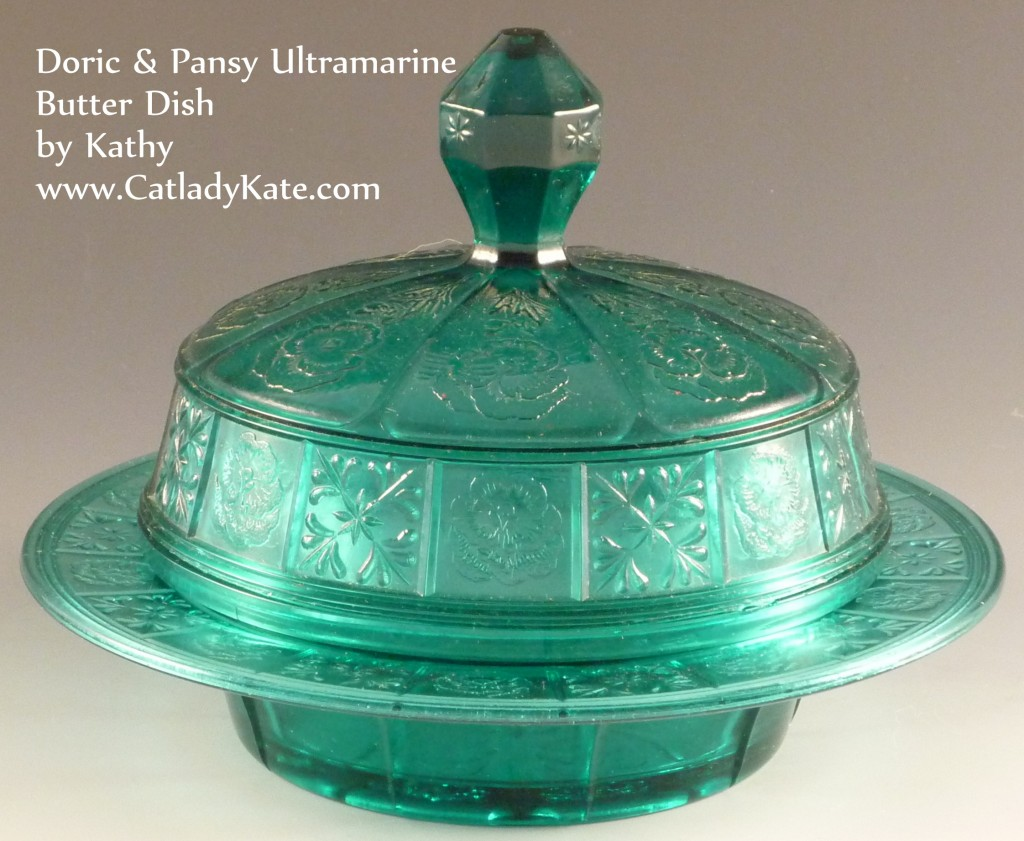 Doric & Pansy Utramarine Butter Dish with Lid