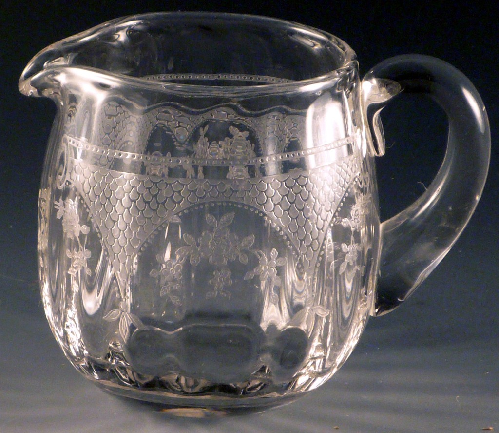 Fostoria Glass Virginia Etched Crystal Creamer