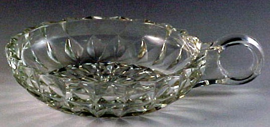 Jeannette Windsor Crystal Depression Glass One Handle Nappy