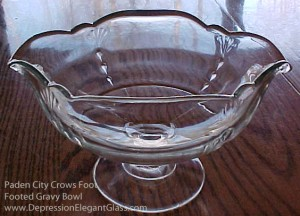 Paden City Crows Foot Crystal Gravy Boat