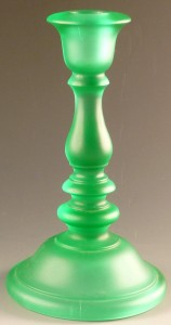 Tiffin Line 81 Satin Green Candle Holder