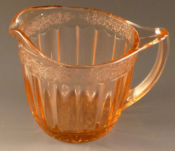 Adam Pink Depression Glass Creamer