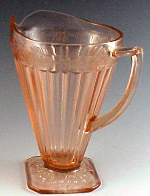 Adam Pink Depression Glass Pitcher