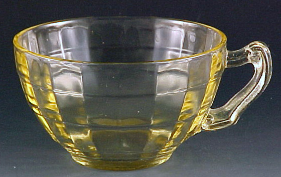 Block Optic Yellow Fancy Handle Cup