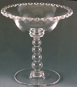 Interesting Pieces of Imperial Candlewick – Spoon, Comport, Ash Tray and Martini Pitcher