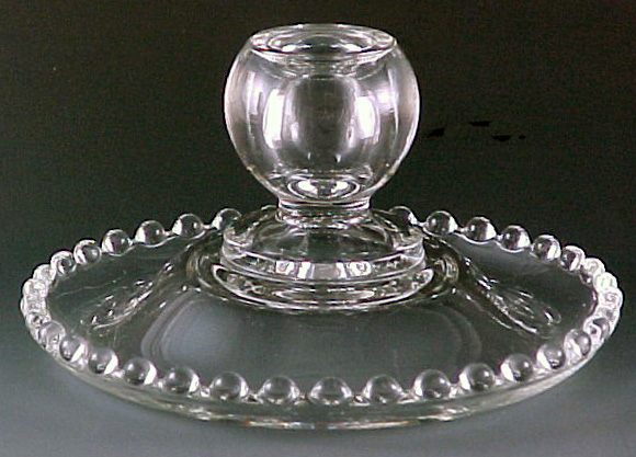 Candlewick Rolled Edge Candleholder 1844