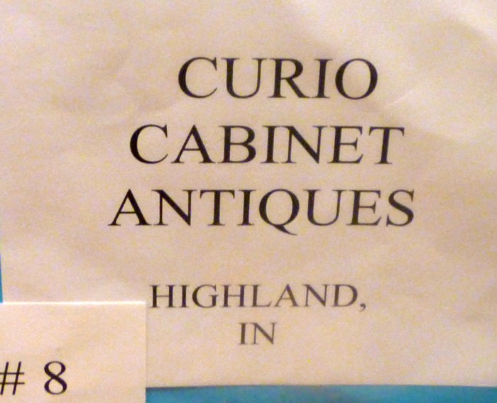 Curio Cabin Antiques Booth Sign Dearborn 2017