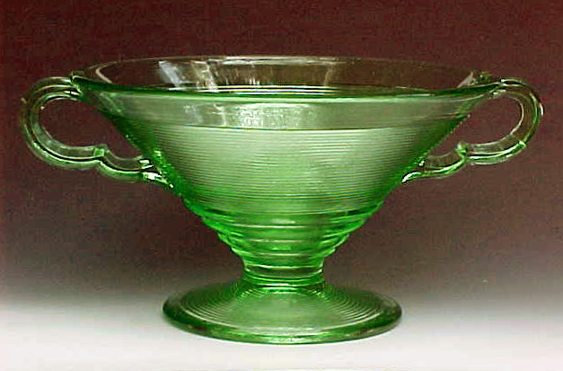 Old English Green Handled Compote