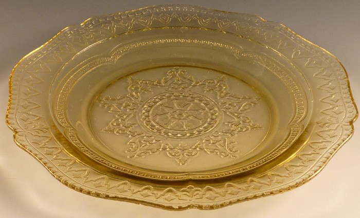Patrician Amber Depression Glass Salad Plate