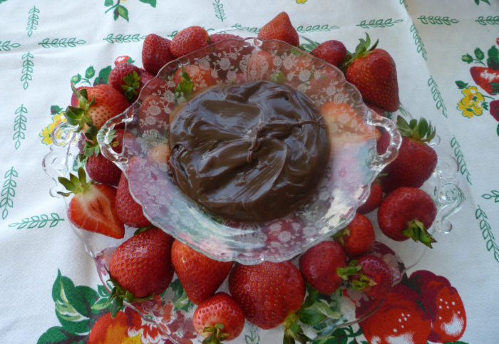 Rose Point Cheese & Cracker Set with Strawberries and Chocolate