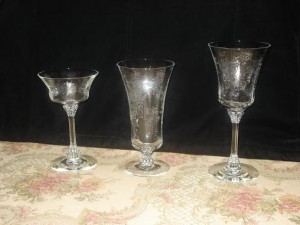 Four Steps to Identify Glass – Heisey Crinoline Etched Stemware
