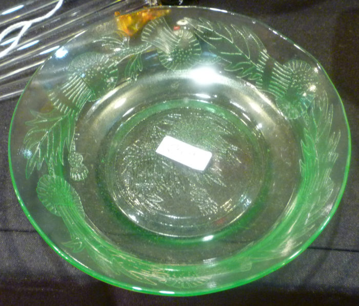 Thistle Green Cereal Bowl Thirties Premiums
